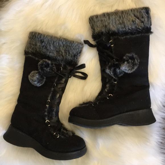 Super Cute Faux Fur Girls Winter Boots